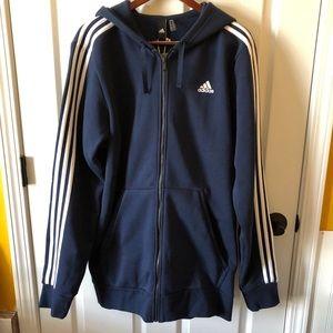Adidas Big & Tall navy blue zip up jacket